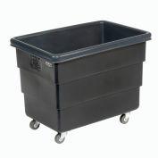 Dandux Black Recycled Plastic Box Truck 51Q126008X-073 8 Bushel 500 Lb. Capacity