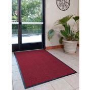 "WaterHog® Eco Elite Fashion Border Entrance Mat 3/8"" Thick 3' x 10' Maroon"
