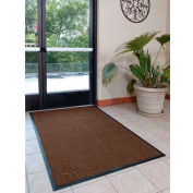"WaterHog® Eco Elite Fashion Border Entrance Mat 3/8"" Thick 3' x Up To 60' Brown"