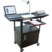 Luxor Steel Security Workstation, Drop Leaf Shelves & Keyboard
