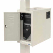 Orbit CPU Computer Enclosure Cabinet with Front/Rear Doors and 2 Exhaust Fans - Beige