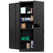 Sandusky Snapit Keyless Electronic Storage Cabinet KDE7848 Easy Assembly - 48x24x78, Black