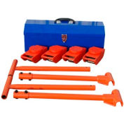 "Vestil Machinery Mover Kit VHMS-2-KIT 4-2000 Lb. Movers, 2-36"" Handles & Toolbox"