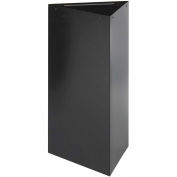 Triangular Recycling Receptacle - 19 Gallon Black