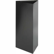 Triangular Recycling Receptacle - 21 Gallon Black