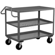 Jamco 3 Shelf Ergonomic Service Cart EF236 2400 Lb. Capacity 24 x 36