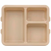 Cambro 9113CP161 - Tray 3 Compartment Deep, Tan - Pkg Qty 24