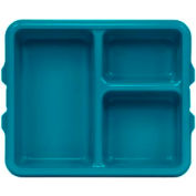 Cambro 9113CW414 - Tray 3 Compartment Deep, Teal - Pkg Qty 24