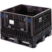 ORBIS BulkPak KD3230-25 Folding Bulk Shipping Container 32 x 30 x 25 1500 lb Capacity Black