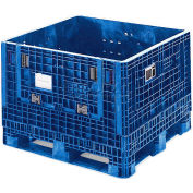 "ORBIS HDMP4845-34-22 BulkPak Folding Bulk Shipping Container - 48""L x 45""W x 34""H, 1800 Lb Cap. Blue"