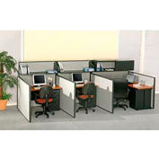 "Pre-Configured Call Center Add-On, 60""W x 48""D, Gray"
