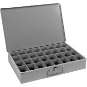 Durham Steel Scoop Compartment Box 107-95 - 32 Compartments 18 x 12 x 3 - Pkg Qty 4