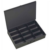 Durham Steel Scoop Compartment Box 115-95 - 12 Compartments - Pkg Qty 4