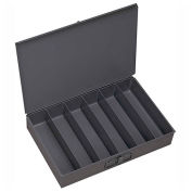Durham Steel Scoop Compartment Box 117-95 - 6 Vertical Compartments 18 x 12 x 3 - Pkg Qty 4