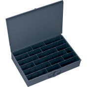 Durham Steel Scoop Compartment Box 099-95 - Adjustable Horizontal Compartments 18 x 12 x 3 - Pkg Qty 4