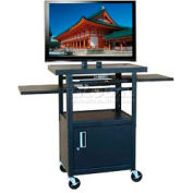 """Buhl Flat Screen Monitor Cart with Cabinet and 26"""" to 42"""" Height Adjustment"""