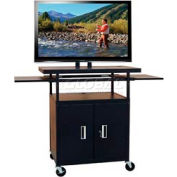 "Buhl Flat Screen Monitor Cart with Cabinet and 34"" to 54"" Height Adjustment"