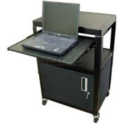 Buhl Steel Audio Visual Cart with Cabinet and Pull Out Shelf