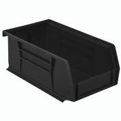"""Akro-Mils AkroBin® Plastic Stacking Bin 30220 - 4-1/8""""W x 7-3/8""""D x 3""""H, Black - Pkg Qty 24"""