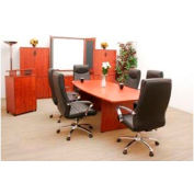Conference Table Boat Shape 95 x 43 Cherry