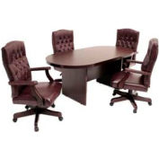 Conference Table Racetrack 120 x 47 Mahogany