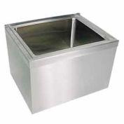 "John Boos EMS-1620-12  12"" Stainless Steel Mop Sink"