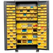 """Jamco Bin Cabinet GS236KE - 14 Gauge Welded with 136 Bins Deep Door, 36""""W x 24""""D x 78""""H"""