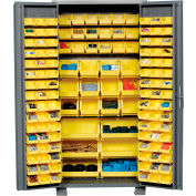 """Jamco Bin Cabinet GS236KF - 14 Gauge Welded with 132 Bins Deep Door, 36""""W x 24""""D x 78""""H"""