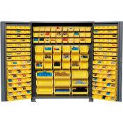 "Jamco Bin Cabinet GS260KA - 14 ga. Welded with 227 Bins Deep Door, 60""W x 24""D x 78""H"