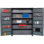 "Jamco Bin Cabinet GR260KV - 14 Gauge Welded with Louvered Panels And Shelves Deep Door, 60"" W"