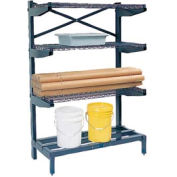 "Cantilever Rack Shelving 48 "" W x 24"" D x 72"" H, 600 Lbs Capacity"