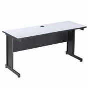 "Interion™ 72"" Desk Gray"