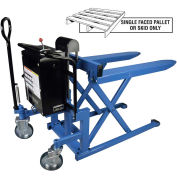 Bishamon Battery Powered High Lift Skid Truck 2200 Lb. Cap. 20.5 x 42.5 Forks