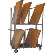 "Jamco Cardboard Carton Truck CP248 Double Level 48 x 24 5"" Polyurethane Casters"