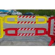 Xtendit® Plastic Extentsion For MOVIT® Barricade, Yellow - Pkg Qty 2