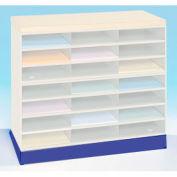 Optional Horizontal Literature Rack Base - Blue
