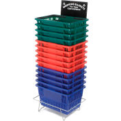 Shopping Basket Stand with Black Sign, Good L Corp. ®