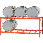 Modern Equipment MECO DR6-2H Drum Storage Rack - 6 Drum Storage