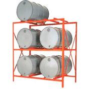 Modern Equipment MECO DR6-3H Drum Storage Rack - 6 Drum Storage