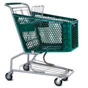 VersaCart® Green Plastic Shopping Cart 3.5 Cu. Foot Capacity 102-085-DGN-BH