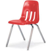 """Classic Series Classroom Chair - Red Vented Back - 18-5/8""""W X 30-5/8""""H - Pkg Qty 4"""