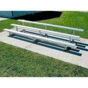 3 Row Aluminum Bleacher, 21' Wide, Single Footboard