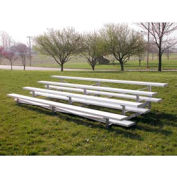 4 Row Low Rise Aluminum Bleacher, 21' Long, Single Footboard