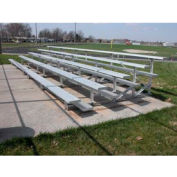 5 Row Aluminum Bleacher, 15' Wide, Single Footboard