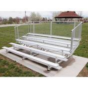 Aluminum Bleachers with Guardrails 5 row 27' W