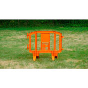 MINIT™ Plastic Barricade, Interlocking, Orange
