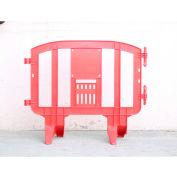 MINIT™ Plastic Barricade, Interlocking, Red