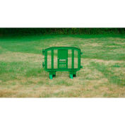 MINIT™ Plastic Barricade, Interlocking, Green