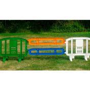 Xtendit® Plastic Extentsion For MOVIT® Barricade, Blue - Pkg Qty 2