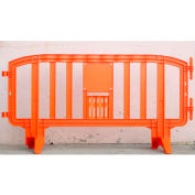 MOVIT® Plastic Barricade, Interlocking, Orange